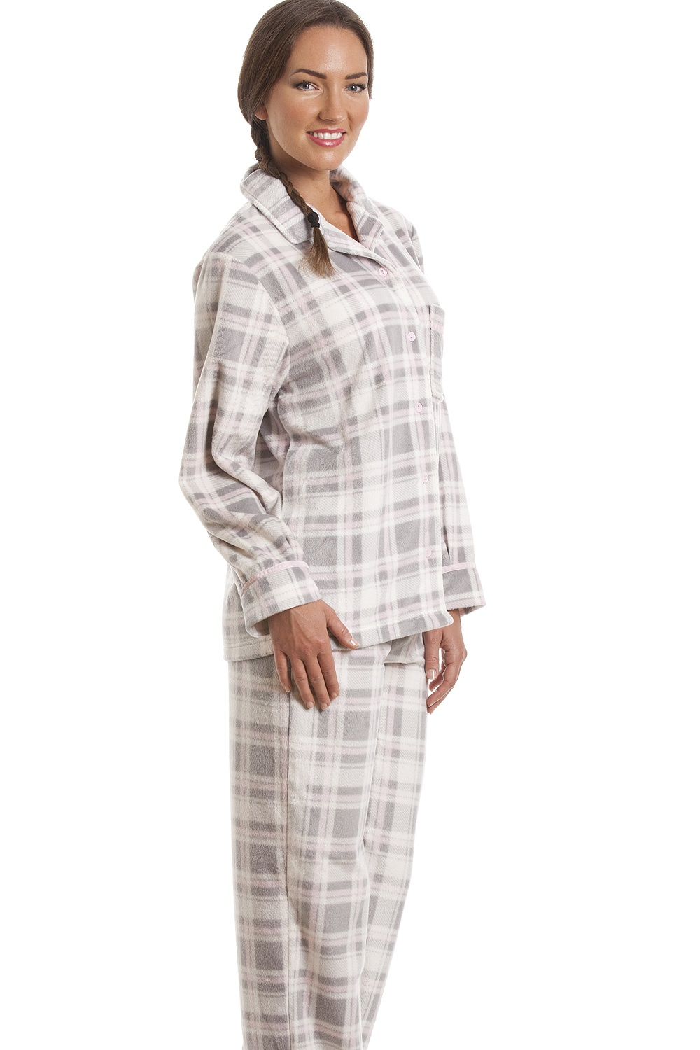 Take your pick from pyjama sets in a wide range of colours and styles that will make you long for a duvet day. Choose from cute pure cotton trouser bottoms and matching tops for an evening of enjoyable lounging or, really cosy up with our collection of unbeatably soft fleece pyjamas.