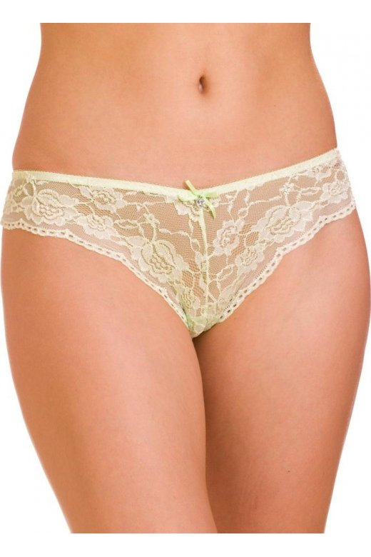 bb9e2a78dc8e Camille Womens Ladies Lime Green Lace Lingerie Bow French Knickers Thong
