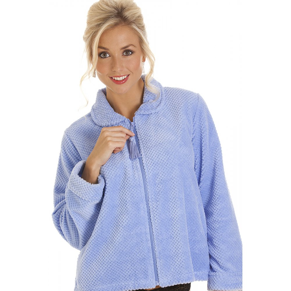 Ladies Bed Jackets Ideal for a stay in hospital or keeping warm whilst reading in bed Clootie Tree is delighted to offer a wide range of ladies bed-jackets in pastel and vibrant colours and with button through or tie neck styles.