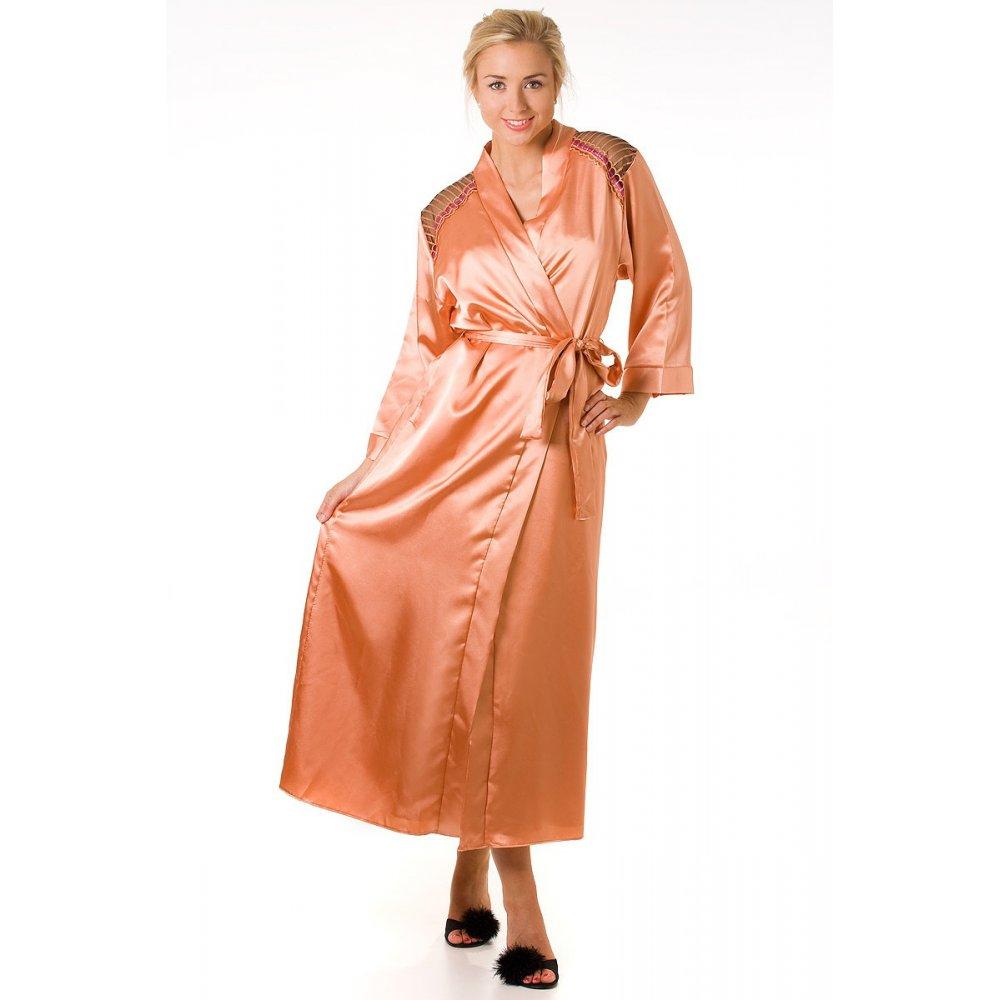 womans satin apricot wrap. Black Bedroom Furniture Sets. Home Design Ideas