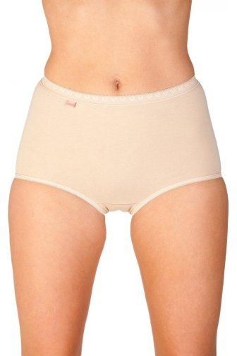 Womens Ladies Maxi Briefs Three Pack Beige