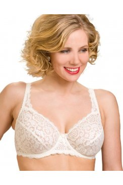 Womens Ladies Rhapsody Ivory Lace Underwired Bra 34B-42F