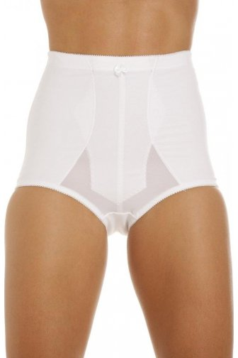Womens Ladies White Bella Magic Firm Control Support Slimming Briefs