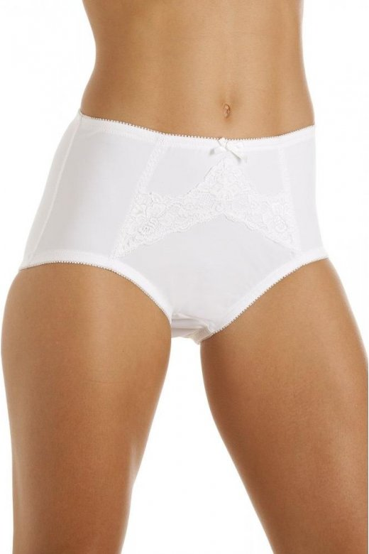 049ee17157be New Ladies Camille White Elle Light Control Womens Brief Shapewear Size  12-22 Uk