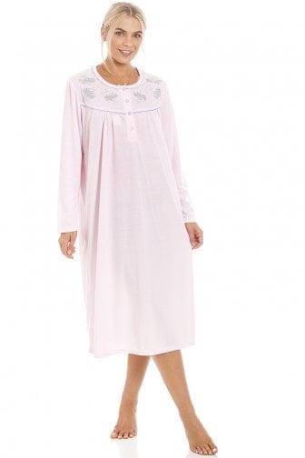 Ladies Short Sleeve Nightie Nightwear Print NightDress Night Tee 8-18
