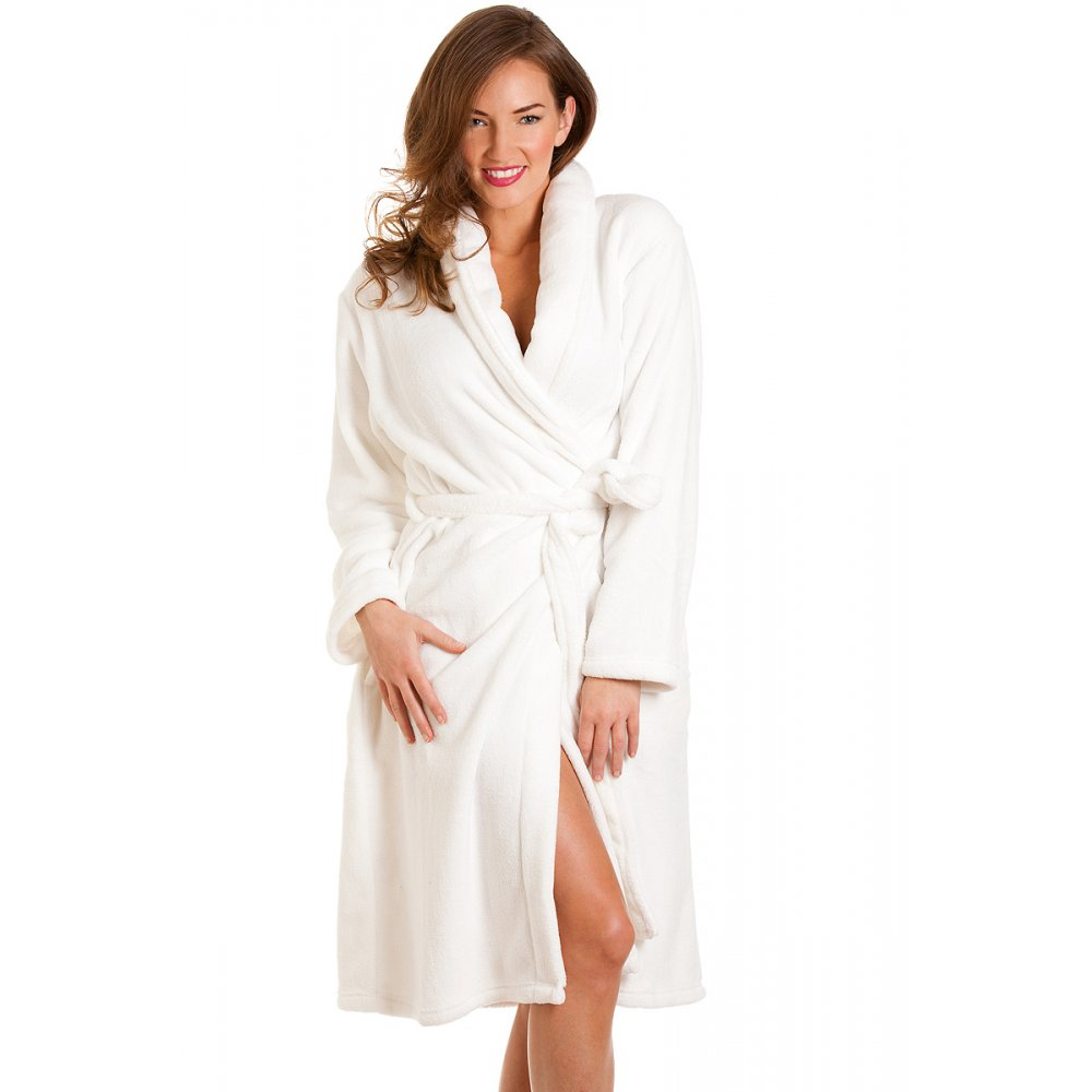 Bathrobe: Womens White Bath Robe