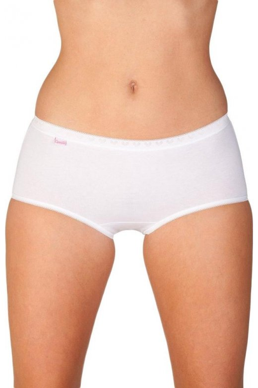 Womens Midi Brief Three Pack White Size 10-20