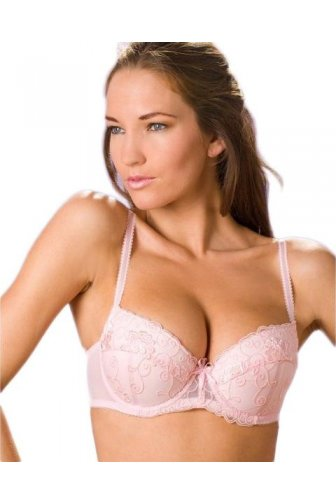 Womens Pink Underwired Florence Embroidered Padded Bra
