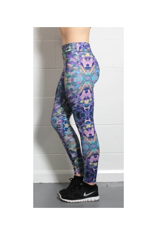6656da2348220c Proskins Womens Proskins Muscle Supportive High Stretch Purple Leggings