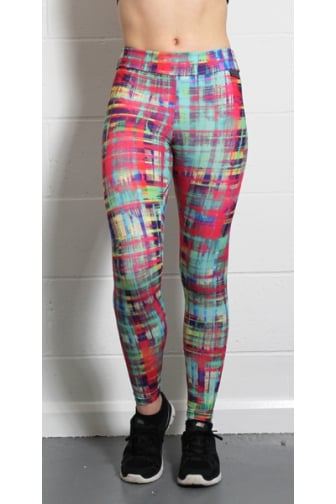 Womens Proskins Muscle Supportive High Stretch Tarten Print Leggings