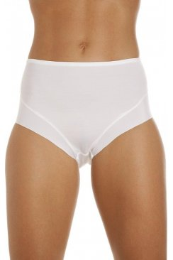 Womens Seamless Smooth Lines White Control Briefs