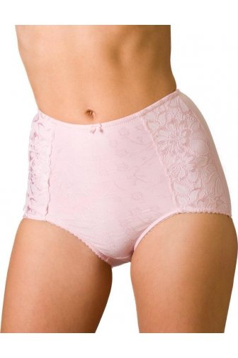 Womens Serenity Jacquard Light Control Support Brief Pink
