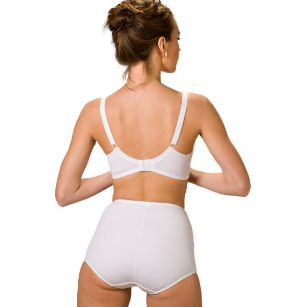 Womens Serenity Jacquard Light Control Support Brief White