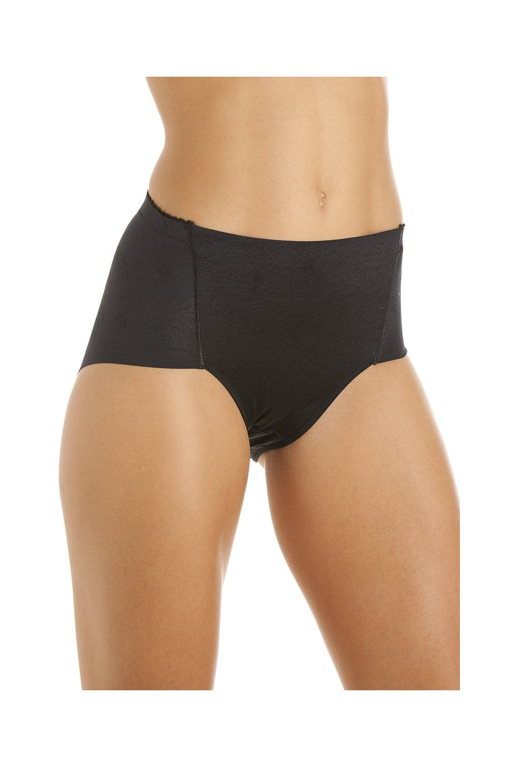 046d2e85ee421 Camille Womens Shapewear Control Black Deep Briefs - Camille from ...