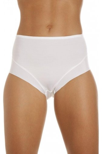 Womens Smooth Lines Control Briefs In White