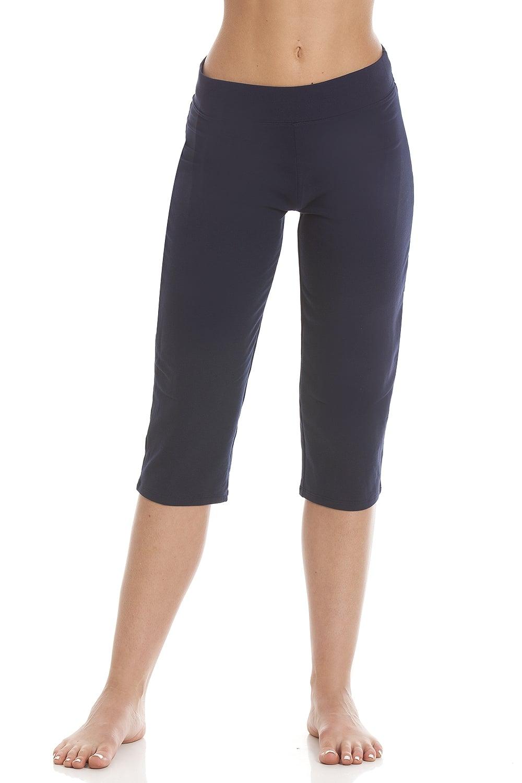 140d851b2e Camille Womens Soft Cotton Blend Blue Yoga Pants