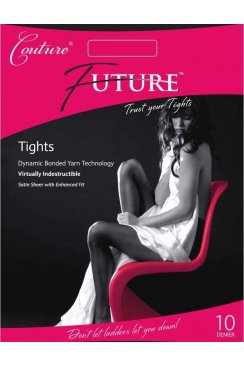 Womens Stylish Couture Future Tights In Black