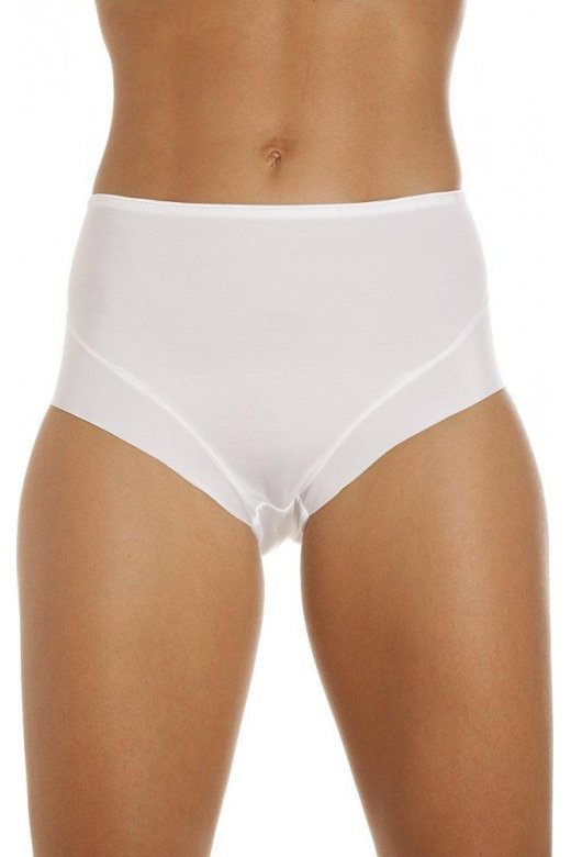 Camille Womens White Two Pack High Leg Control Briefs