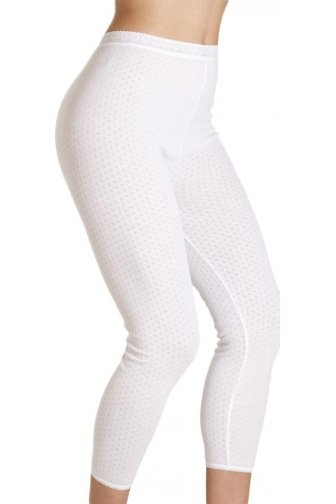 Womens Viloft Blend Lightweight Thermal Leggings White
