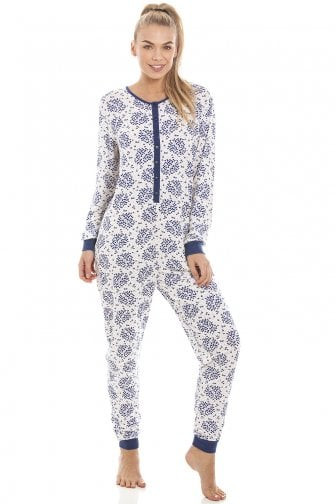 f036878182d Womens White Floral And Leaf Print All In One