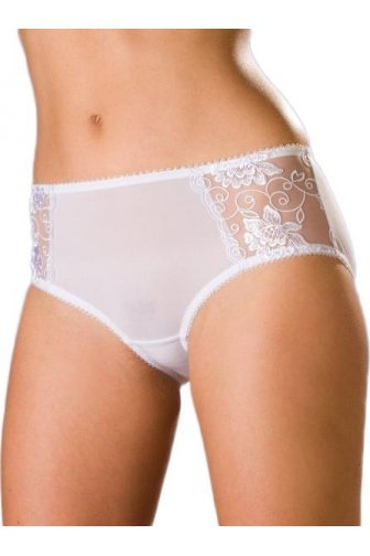 Womens White Florence Lace Boxer Shorts