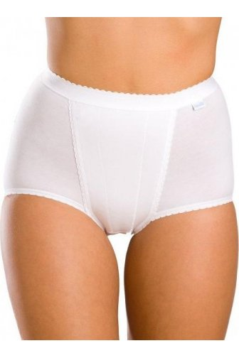 Womens White Two Pack Cotton High Waist Maxi Briefs